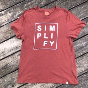 Life is Good Simplify T-shirt size Large